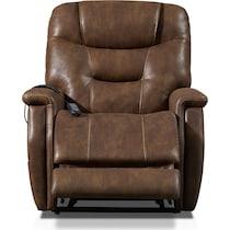 cyrus dark brown power lift recliner