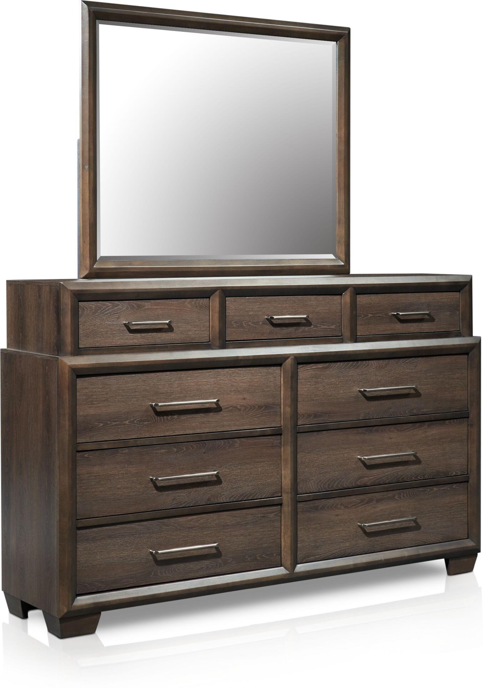 Bedroom Furniture - Dakota Dresser and Mirror