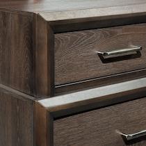 dakota dark brown dresser & mirror
