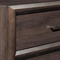 dakota dark brown nightstand