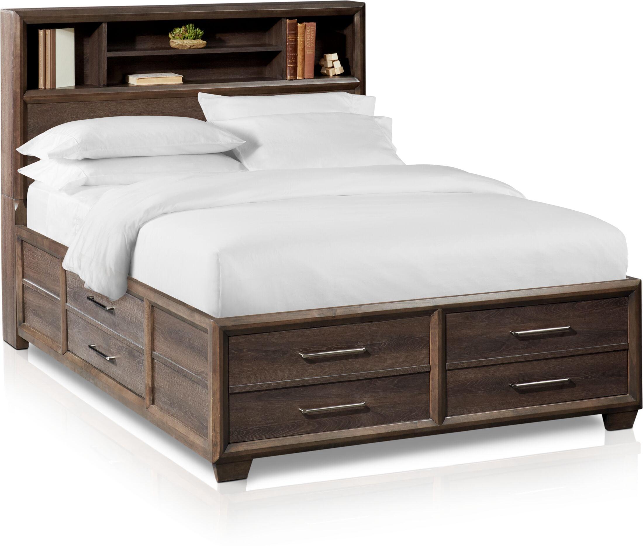 Bedroom Furniture - Dakota Bookcase Storage Bed