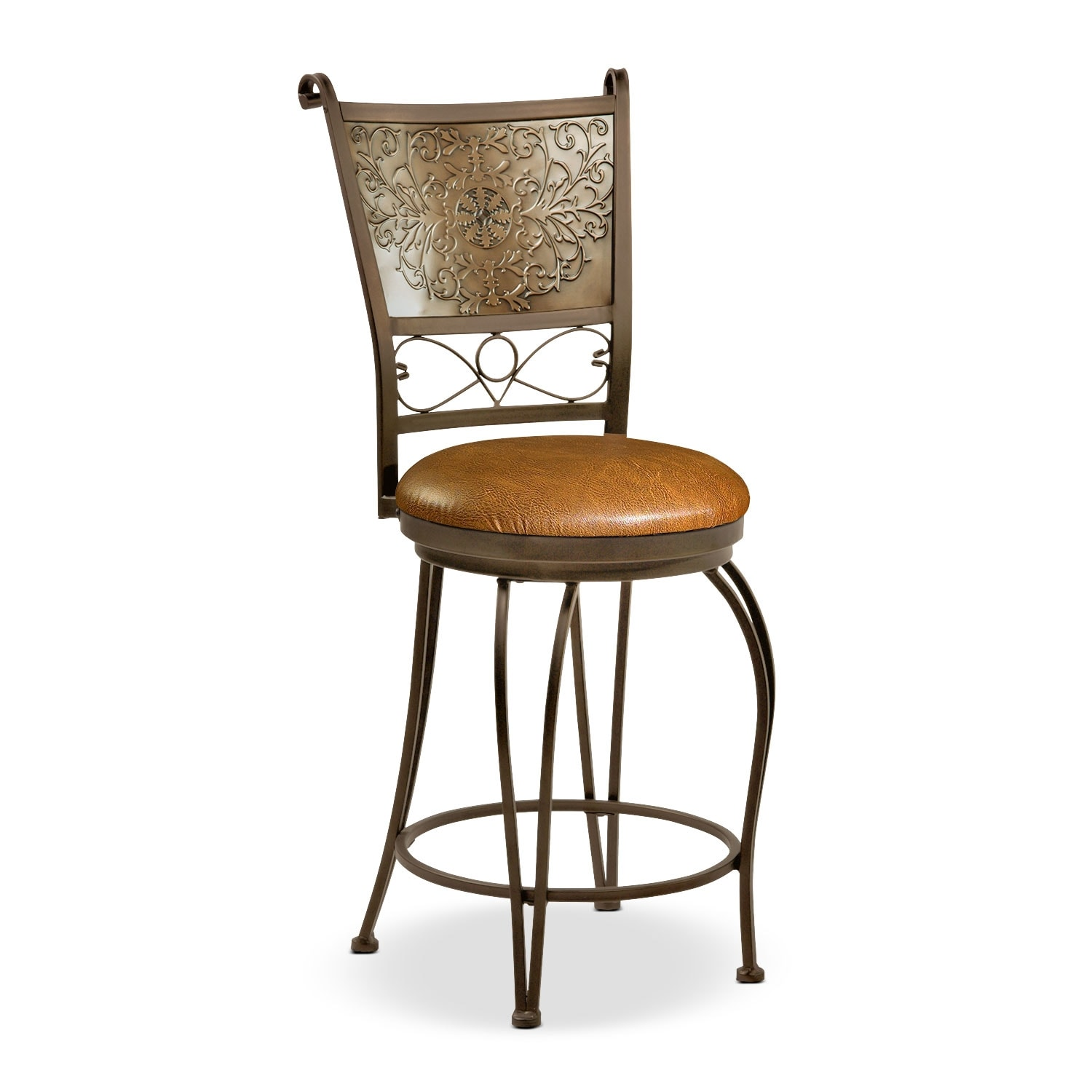 Accent and Occasional Furniture - Darby Counter-Height Stool - Brown