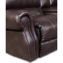 dartmouth burgundy dark brown power reclining sectional