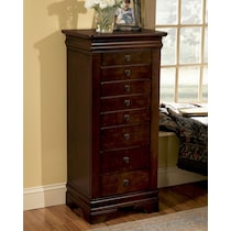 darvin dark brown jewelry armoire