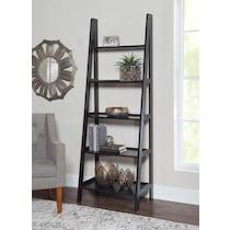davis black bookcase