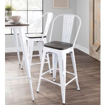 dax white counter height stool