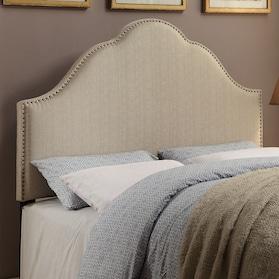 Delaney Queen Upholstered Headboard - Oatmeal