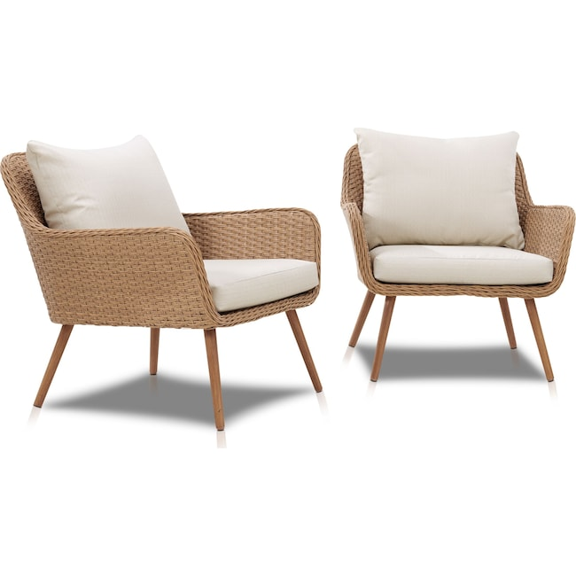 Outdoor Furniture - Delray Set of 2 Outdoor Chairs