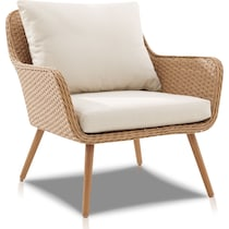 delray light brown outdoor chair set