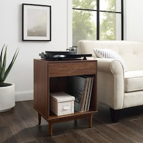 dennis dark brown end table