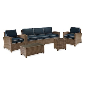 Destin Outdoor Sofa, 2 Chairs, Coffee Table and End Table Set