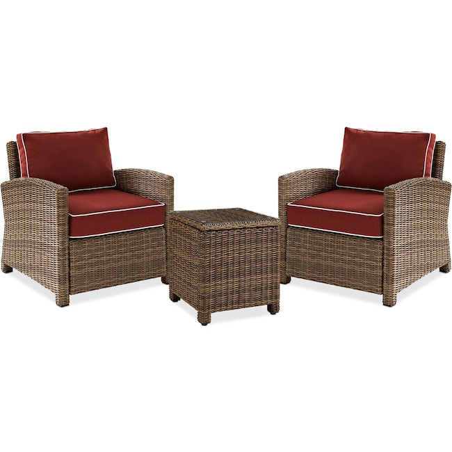 Outdoor Furniture - Destin 2 Outdoor Chairs and End Table Set