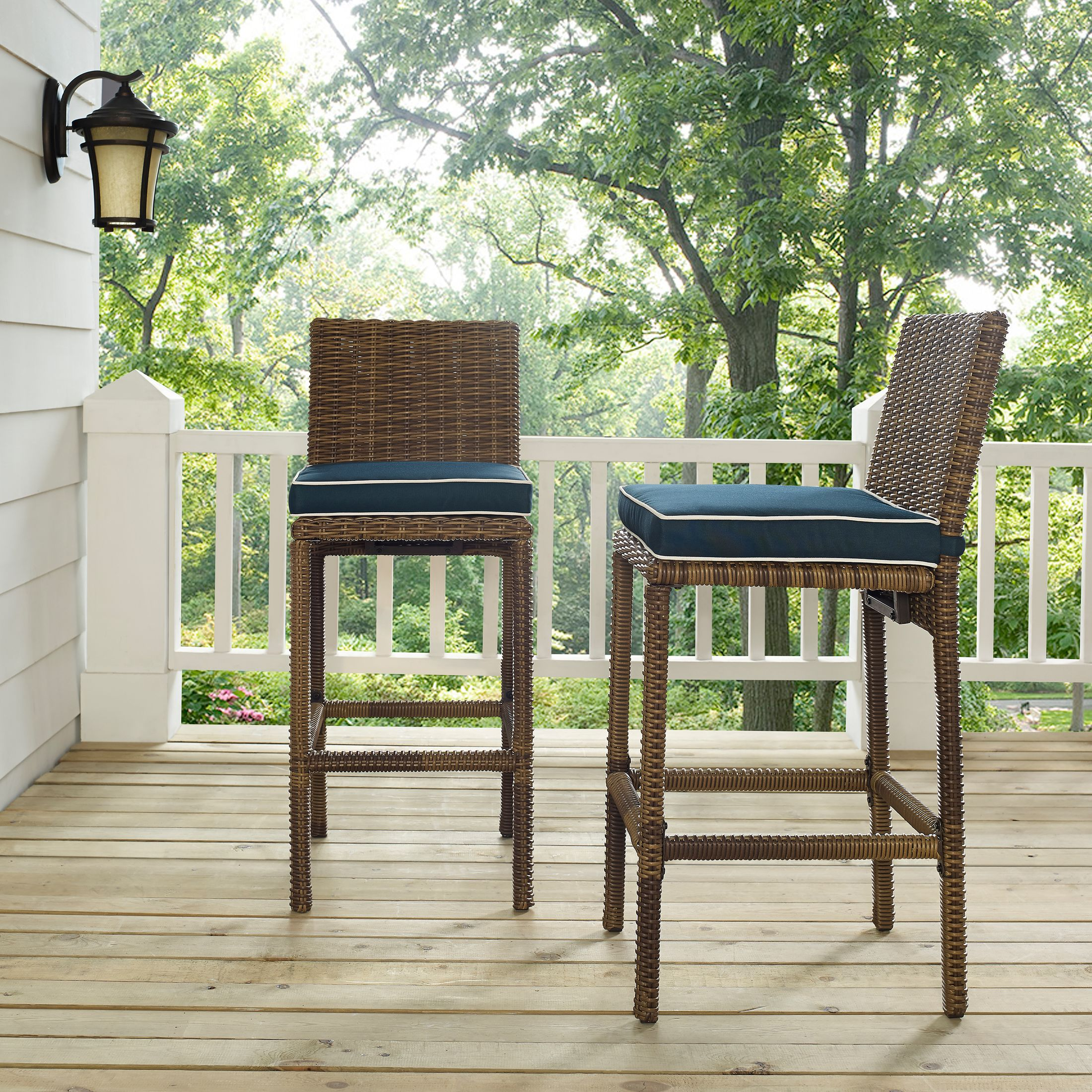 Outdoor Furniture - Destin Outdoor Set of 2 Bar Stools