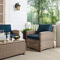 destin blue outdoor chair