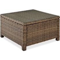 destin dark brown outdoor coffee table