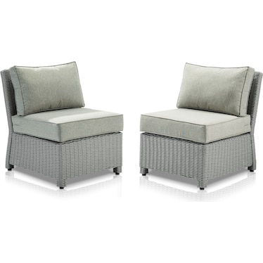 Destin Set of 2 Outdoor Armless Chairs