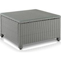 destin gray outdoor coffee table