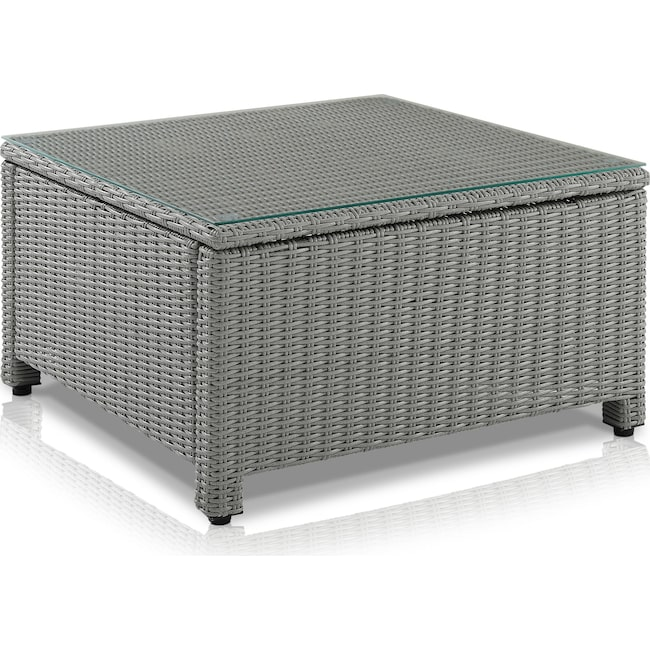 Outdoor Furniture - Destin Outdoor Square Coffee Table - Gray