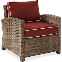 destin red outdoor sofa set