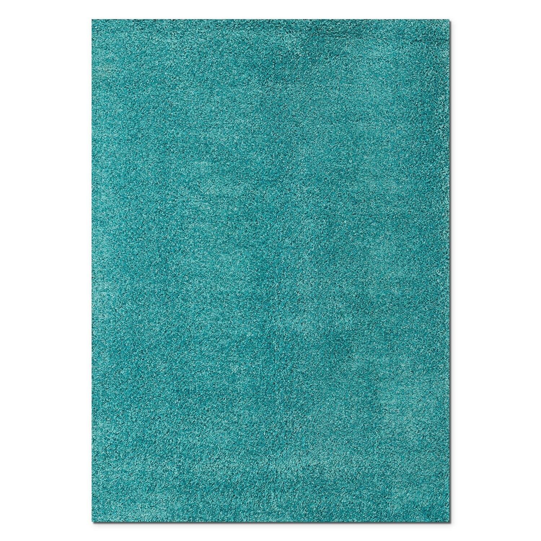 Rugs - Domino Shag Area Rug - Turquoise