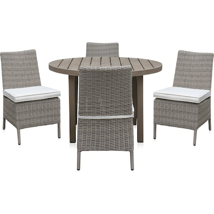Dover Bay Outdoor Round Dining Table and 4 Side Chairs
