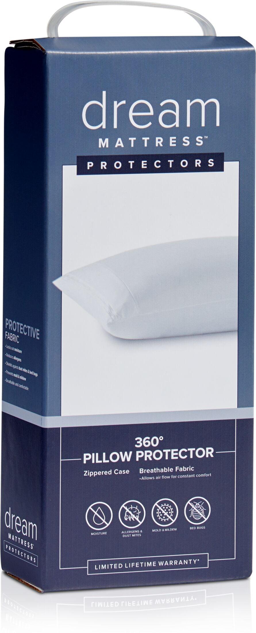 Mattresses and Bedding - Dream Queen 360 Pillow Protector