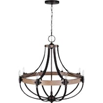 dubois dark brown chandelier