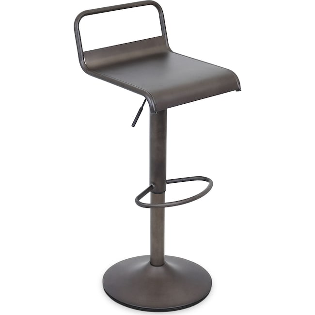 Accent and Occasional Furniture - Duran Adjustable Bar Stool - Antique Black