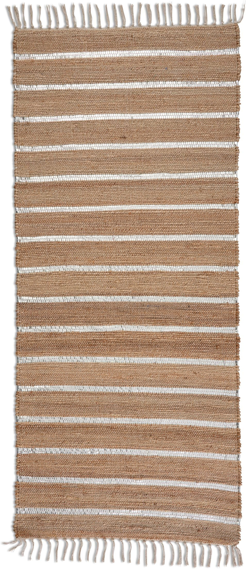 "Rugs - Dylan 30"" x 6' Runner - Silver/Natural"
