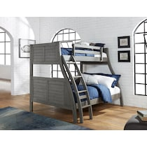 easton gray twin over full bunk bed