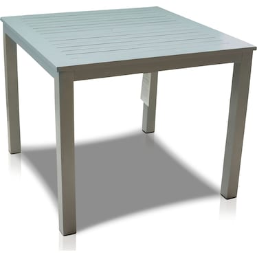 Edgewater Outdoor Square Dining Table - Gray