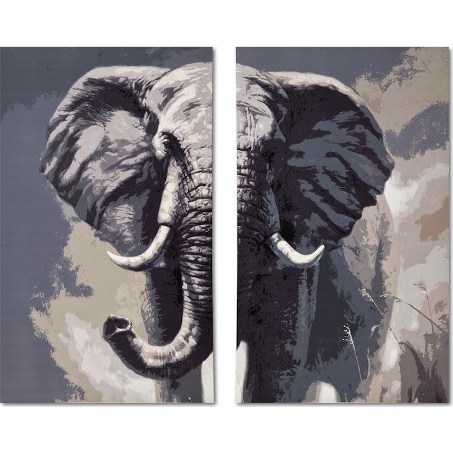 Home Accessories - Elephant 2-Piece Canvas Print