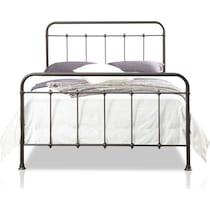 emily dark brown king bed