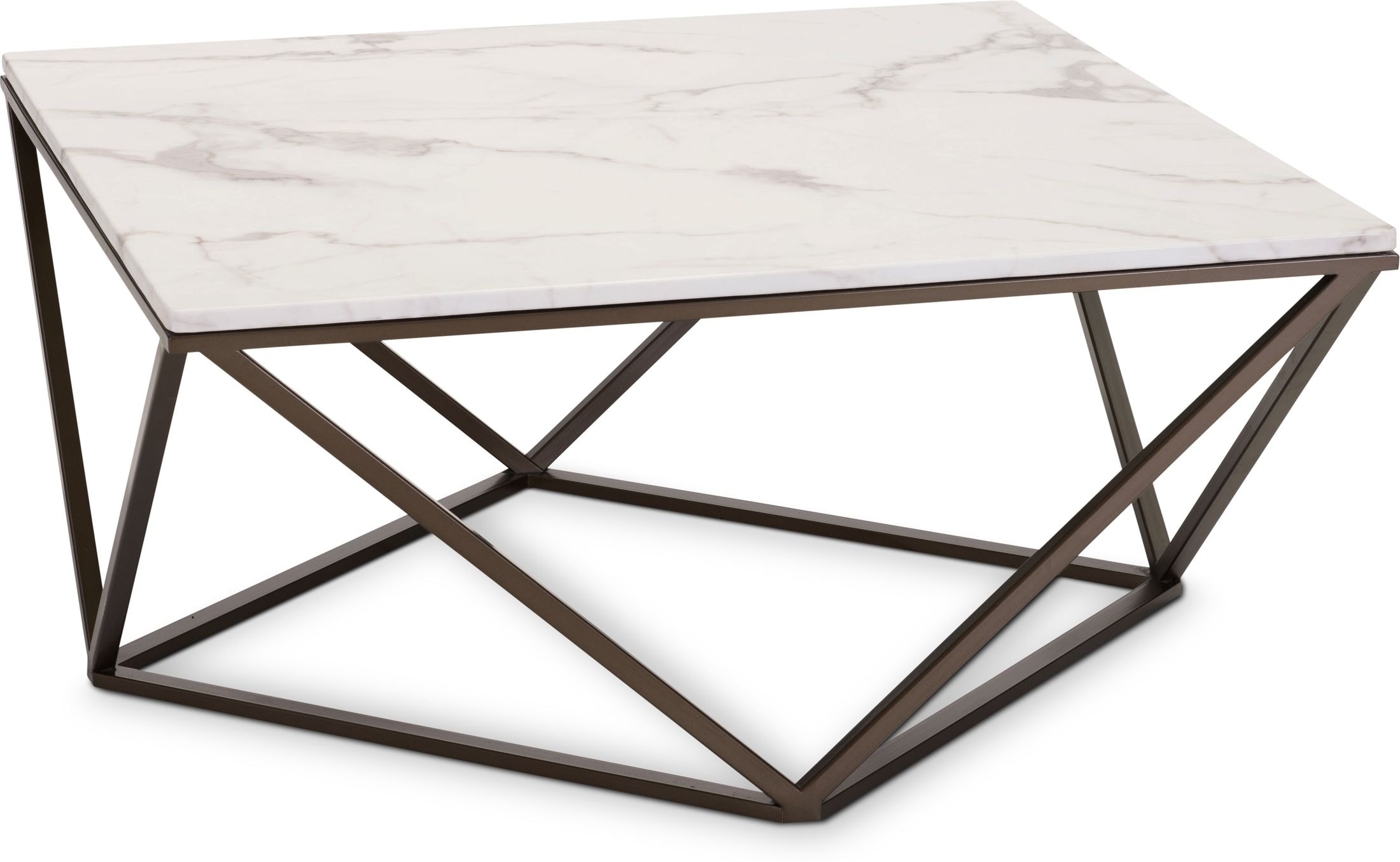 Accent and Occasional Furniture - Emma Marble Coffee Table