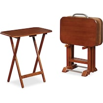 ernest dark brown tray table