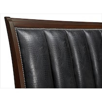 esquire merlot dark brown king bed