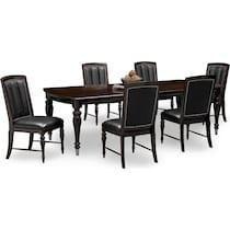 esquire dark brown  pc dining room