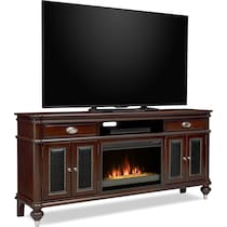 esquire dark brown fireplace tv stand