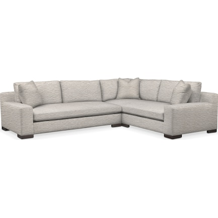 Ethan Foam Comfort 2-Piece Large Sectional with Left-Facing Sofa - Living Large White