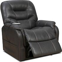 eugene dark brown power lift recliner