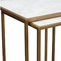 evie marble nesting tables