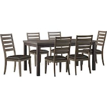 fairfield gray  pc dining room