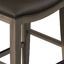 fairfield gray backless counter height stool