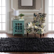 faux black area rug ' x '