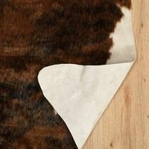 faux dark brown area rug ' x '