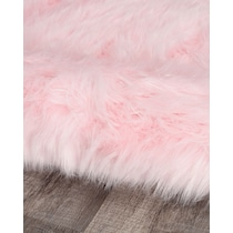 faux pink area rug ' x '
