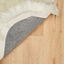 faux white area rug ' x '