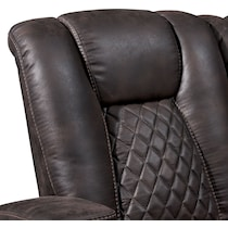 felix dark brown manual reclining loveseat