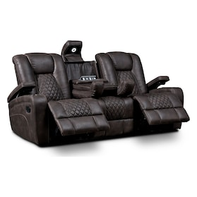 Felix Manual Reclining Sofa - Brown