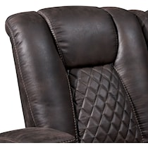 felix dark brown manual reclining sofa